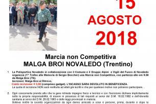 Marcia non competitiva Novaledo - Malga Broi - 15 agosto 2018