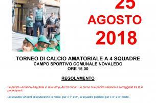 Torneo di calcio - Novaledo (TN) - 25 agosto 2018